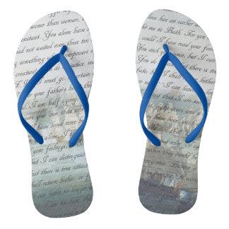Persuasion Letter Flip Flops