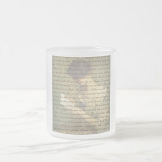 Persuasion Letter Frosted Glass Coffee Mug