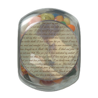 Persuasion Letter Glass Candy Jars