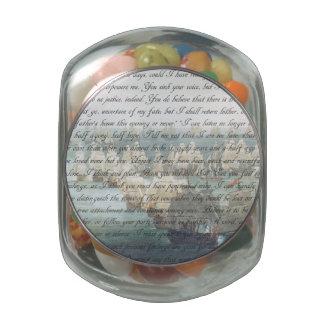 Persuasion Letter Glass Jar