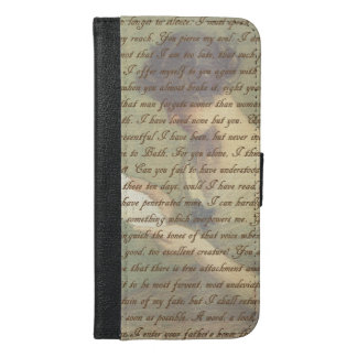 Persuasion Letter iPhone 6/6s Plus Wallet Case