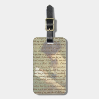 Persuasion Letter Luggage Tag