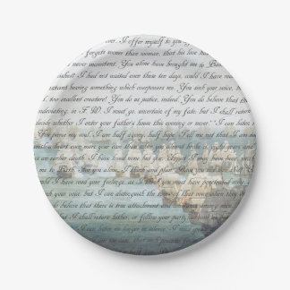 Persuasion Letter Paper Plate