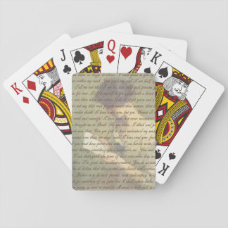 Persuasion Letter Playing Cards