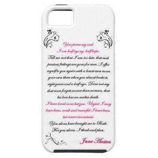 Persuasion Letter Quote - Jane Austen iPhone 5 Cover