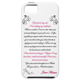 Persuasion Letter Quote - Jane Austen iPhone SE/5/5s Case