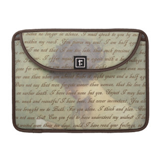 Persuasion Letter Sleeve For MacBook Pro