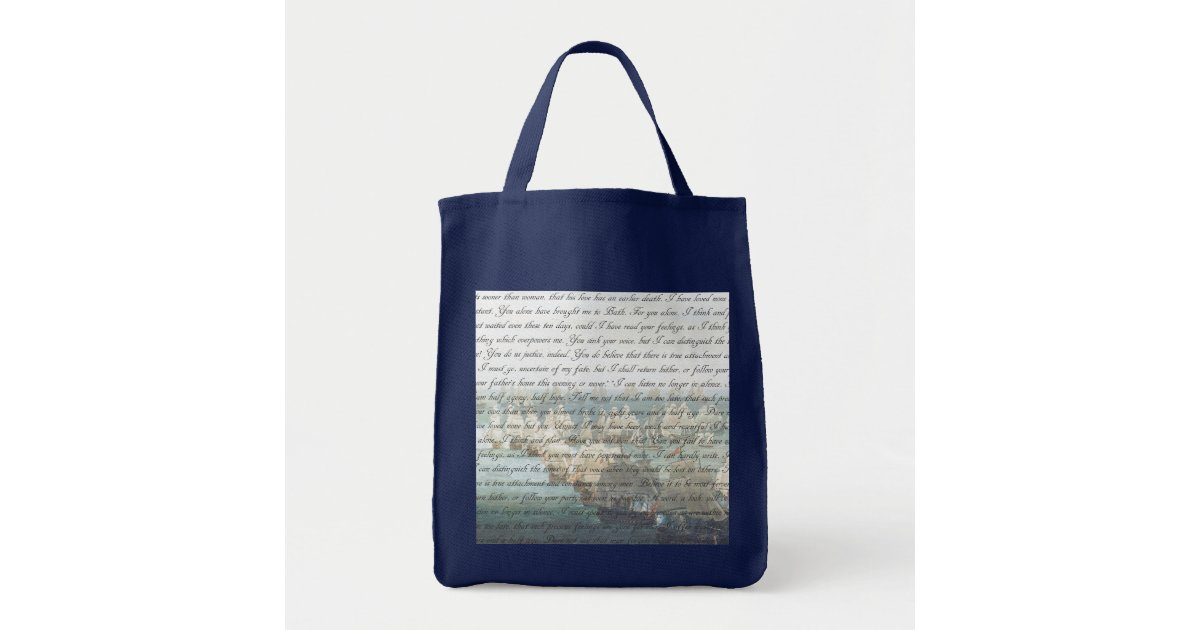 persuasion letter tote bag zazzle With letter tote bag
