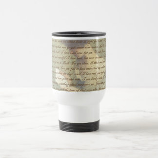Persuasion Letter Travel Mug