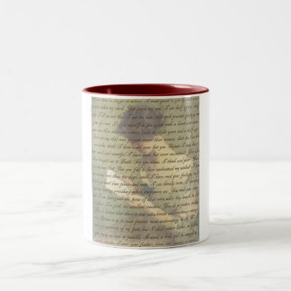 Persuasion Letter Two-Tone Coffee Mug