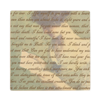 Persuasion Letter Wooden Coaster