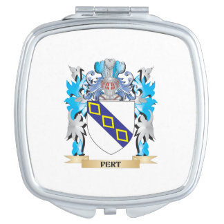 Pert Coat of Arms - Family Crest Travel Mirror