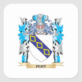 Pert Coat of Arms - Family Crest Square Stickers