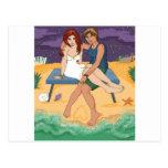 Pertenecemos al mar tarjeta postal