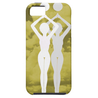 Pertenezco 2 amarillo del caso del iPhone 5 del Funda Para iPhone 5 Tough