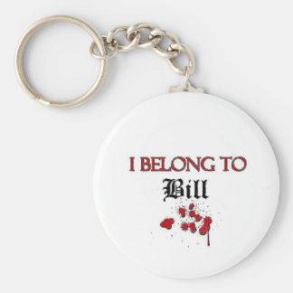 Pertenezco a Bill Llavero Redondo Tipo Pin