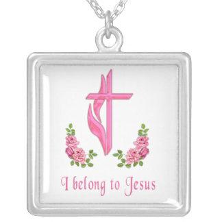 Pertenezco a Jesús Colgante Cuadrado