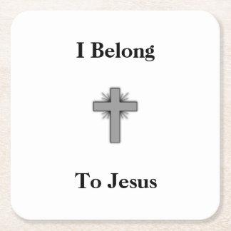Pertenezco a los prácticos de costa de Jesús Posavasos Desechable Cuadrado