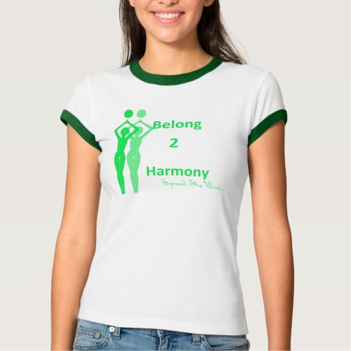 Pertenezco el verde blanco de 2 armonías (iB2H) Remera