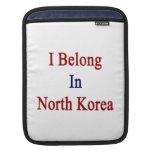 Pertenezco en Corea del Norte Funda Para iPads