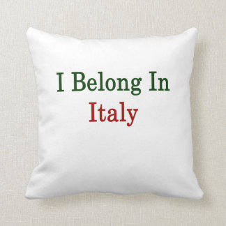 Pertenezco en Italia Cojines