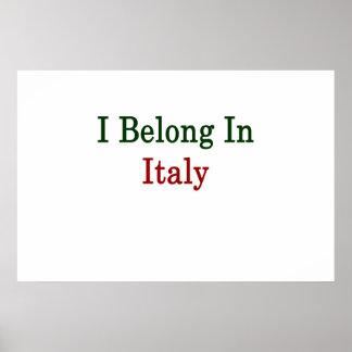 Pertenezco en Italia Posters