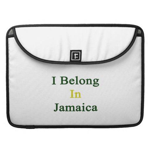 Pertenezco en Jamaica Funda Macbook Pro