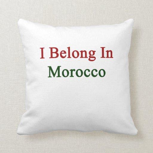 Pertenezco en Marruecos Almohada