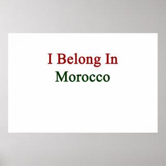 Pertenezco en Marruecos Impresiones