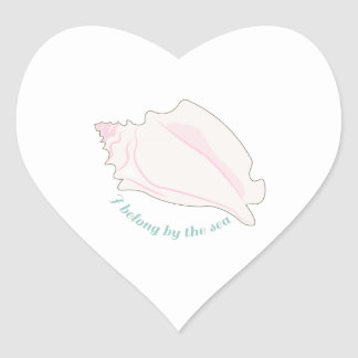 Pertenezco por el mar calcomania de corazon personalizadas