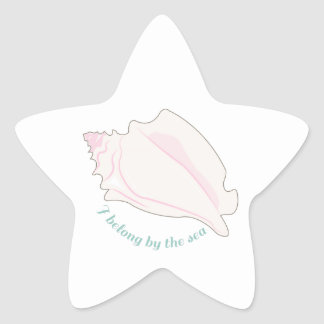 Pertenezco por el mar pegatina forma de estrella personalizadas