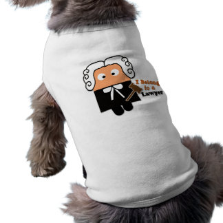 """Pertenezco ropa del mascota de un abogado"" Playera Sin Mangas Para Perro"