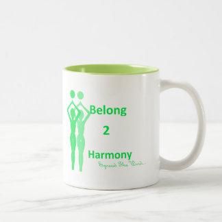 Pertenezco taza verde de 2 armonías (iB2H)