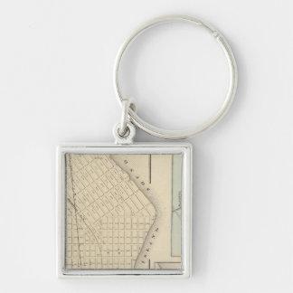 Perth Amboy, NJ Silver-Colored Square Keychain