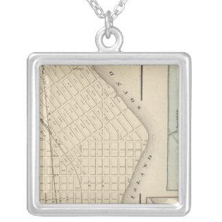 Perth Amboy, NJ Square Pendant Necklace