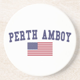 Perth Amboy US Flag Coaster