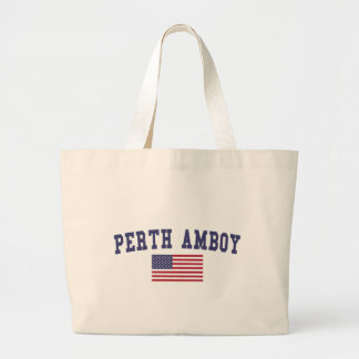 Perth Amboy US Flag Large Tote Bag