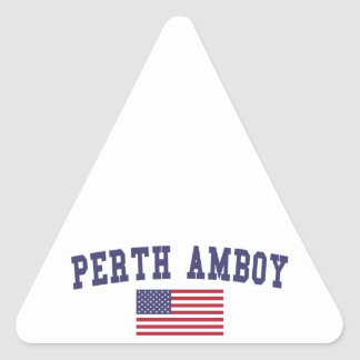 Perth Amboy US Flag Triangle Sticker