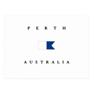 Perth Australia Alpha Dive Flag Postcard