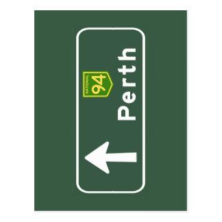 Perth, Australia Road Sign Postcard