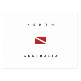 Perth Australia Scuba Dive Flag Postcard