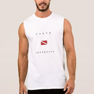 Perth Australia Scuba Dive Flag Sleeveless Shirts