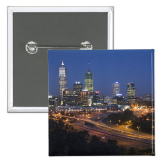 Perth, Australia. View of downtown Perth from 2 Inch Square Button