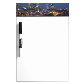 Perth, Australia. View of downtown Perth from Dry-Erase Board