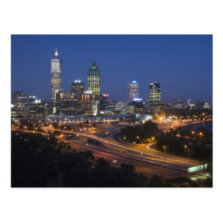 Perth, Australia. View of downtown Perth from Postcard