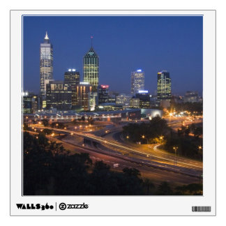 Perth, Australia. View of downtown Perth from Room Sticker