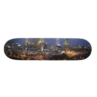 Perth, Australia. View of downtown Perth from Skateboard