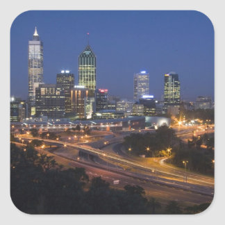 Perth, Australia. View of downtown Perth from Square Sticker