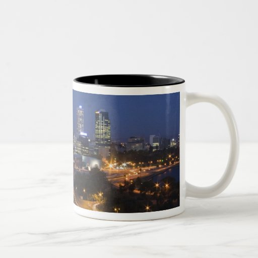Perth, Australia. View of downtown Perth from Two-Tone Coffee Mug