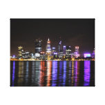 Perth CBD by night Stretched Canvas Print